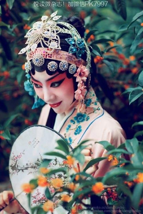 唯美中国风图片:戏子入画,一生天涯 (8)