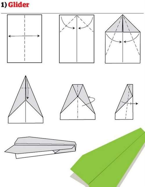 折纸大全:纸飞机的12种折法 (1)