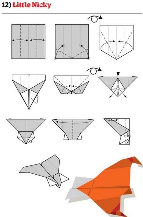 折纸大全:纸飞机的12种折法 (12)