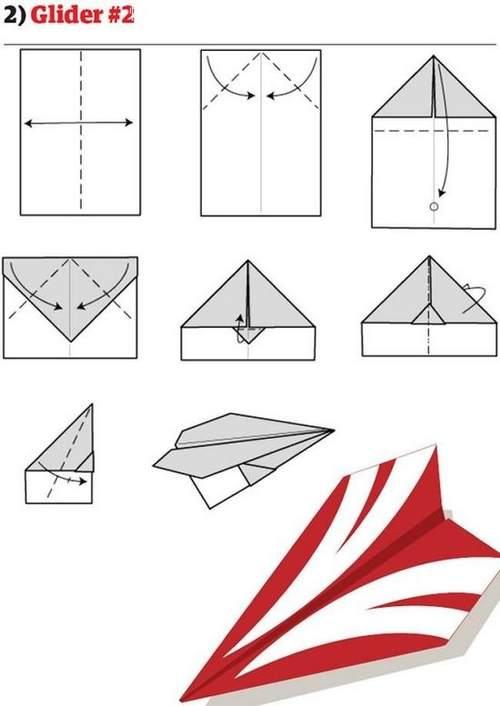 折纸大全:纸飞机的12种折法 (2)