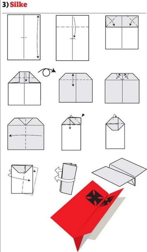 折纸大全:纸飞机的12种折法 (3)