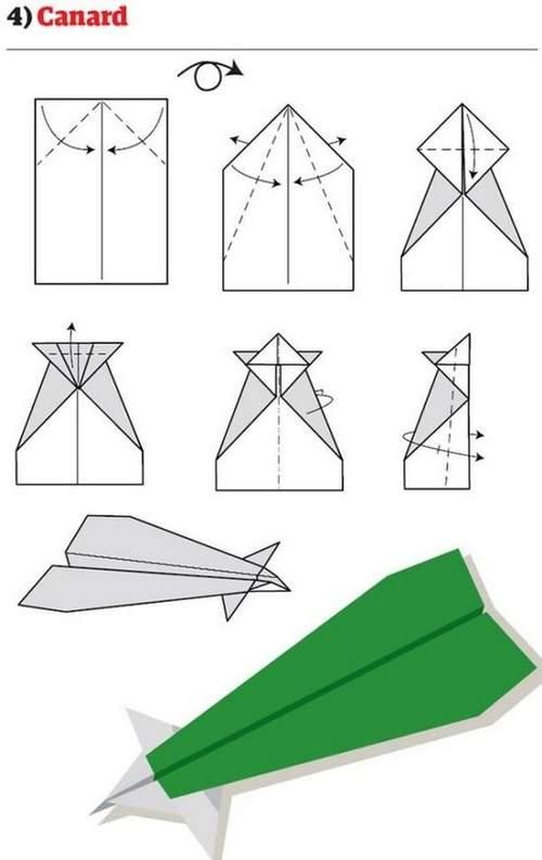 折纸大全:纸飞机的12种折法 (4)