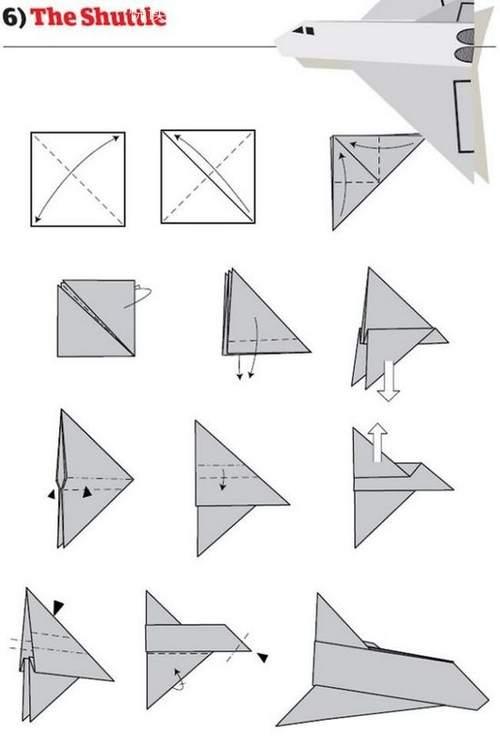 折纸大全:纸飞机的12种折法 (6)