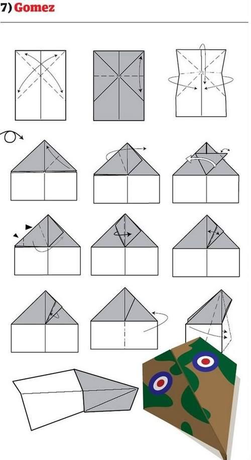 折纸大全:纸飞机的12种折法 (7)