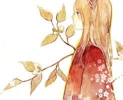 摄人心魄的温暖的插画风女生微信QQ头像