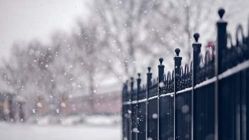 唯美城市下雪雪景小清新图片
