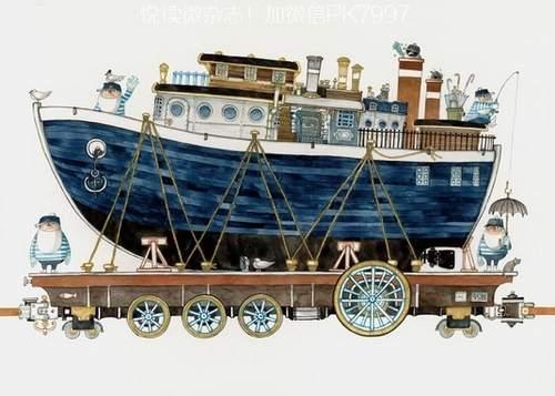 Junaida清新手绘:火车上的梦幻乐园